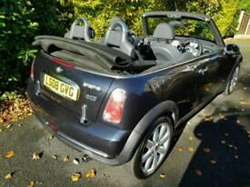 Mini convertible one. Black. 1.6. Petrol. Manual. 12 months warranty. 12 month mot.12 month aa.