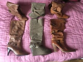 Bundle of shoes and boots size 5
