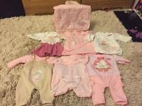 BABY ANNABELL CLOTHES AND CHANGING BAG