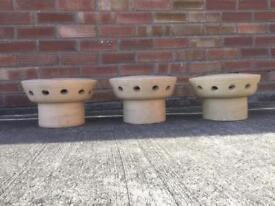 3 Chimney pot caps