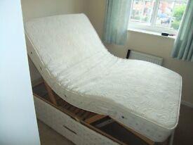 Arise Electric Bed 107cm x 200cm with Vaso Memory Foam Electric massage Mattress