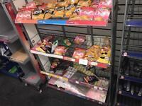 Shop walker crisps stand