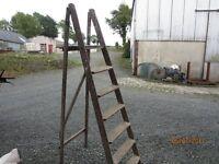 Set of wooden steps,