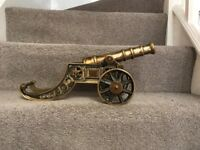 Solid Brass Cannon