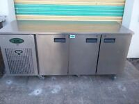 3 three Door Foster Commercial Catering Kitchen Freezer under Counter Table FREE DELIVERY