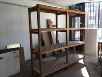 WOODEN RACKING PERFECT FOR GARAGE OR SHED VERY STURDY
