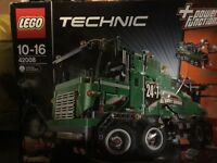 Lego Service Truck 42008 - Unopened but front of box has a rear in it