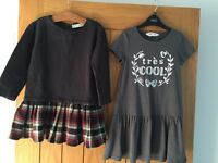 2x girls dresses, age 5-6