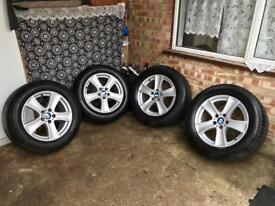 Genuine BMW X5 alloy wheels in very good condition