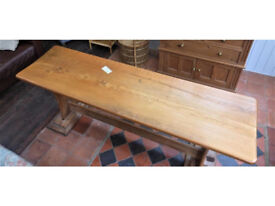 Beautiful Elm Top Refectory Table