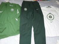 GENUINE CELTIC FC TRACKSUIT 12-13 GIRLS/BOYS NIKE ZIP TOP TROUSERS AND FREE LISBON LIONS TOP