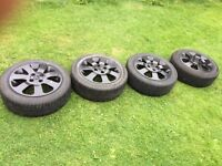 4 x Vauxhall Corsa SXI Alloys & Tyres Very Good Condition