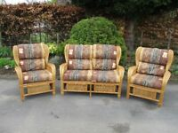 Cane Conservatory Suite with 2 Chairs - New Condition