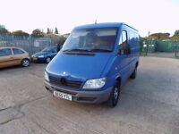 2005 Mercedes Sprinter 208cdi blue van