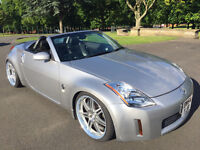 MINT NISSAN 350Z CONVERTIBLE 55K 6 SPEED MANUAL NEW IMPORT LONG MOT LEATHER 20 inch Alloys