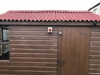 Decent quality shed, needing some TLC