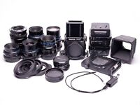 Mamiya RZ67 Pro 2 medium format — 5 lens, 3 backs, 2 extension tubes, accessories and Peli case