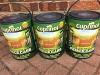 x3 Brand New Cuprinol Fence Paint in Autumn Gold £20 the lot