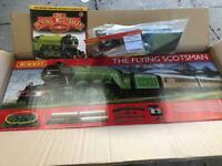 Hornby's the flying Scotsman full train set never been used