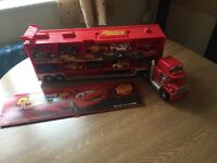 Disney Cars truck transporter Mack with 10 cars