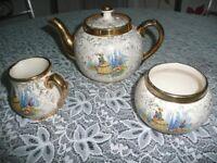 Crinolin Lady Vintage Tea Pot Set