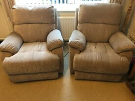 Sofa And Reclining Armchairs 3 Piece Suite