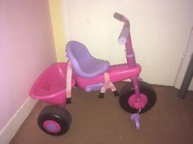 Kids Girls Babies Pink Purple 3-in-1 Smart Trike - Steer & Grow Learning Bike