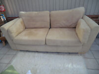 3 SEATER SOFA ARMCHAIR AND FOOT STOOL