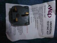 Electrics testing kit for campsites