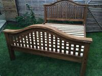 Stunning handmade solid oak king size bed frame, lots of character, great condition