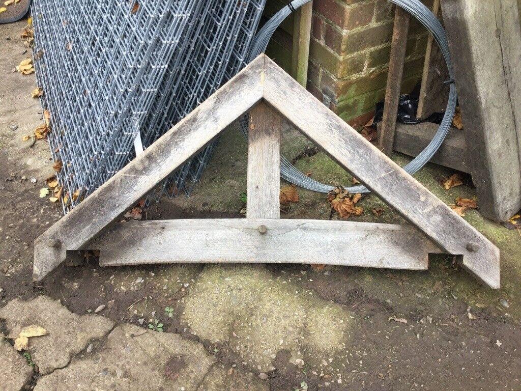 Oak Porch Roof Front