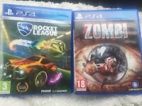 PS4 games. Zombi and rocket league
