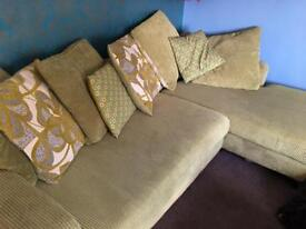 Corner couches lime green
