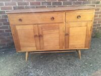 Ercol 1950s early rare sideboard in Beech