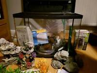 62 litre interpet fishbox fish tank with full kit