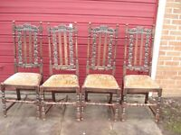 solid oak dining chairs antique bobbin turned high backed solid oak chairs