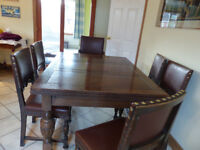 1920s Oak Dining Table and Chairs (One carver & 5 standard chairs)