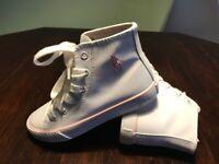 Polo Ralph Lauren Girls' Hi-top Sneaker white/pink NEW!