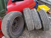 Nissan micra spare wheels and tyres