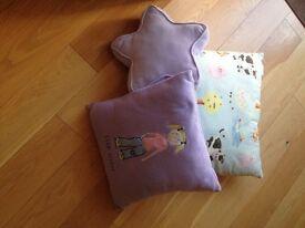 Children's cushions x 3