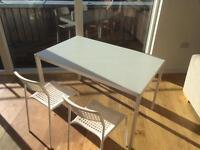 IKEA HELLTORP table + 2 IKEA chairs