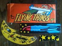 rare vintage late 1960s topps chewing gum flying things opeechee