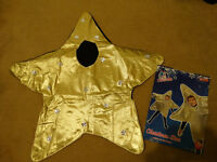 Nativity Christmas Gold Star Costume for Boys/Girls size Small 4-6 years