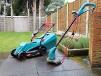 Fantastic Lawnmower and trimmer plus a 15M socket case reel