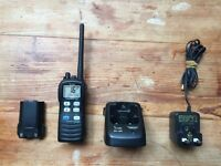 I-com IC-M72 vhf with spare battery in perfect condition.