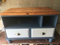 TV Stand Drawers Cupboard Table Solid Pine