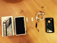 iPhone 4S 8GB Black unlocked with box and accessories