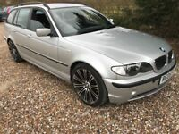 BMW 320D ES Touring 1995cc Turbo Diesel 6 speed manual 5 door estate 05 Plate 29/03/2005 Silver