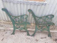 Antique bench ends