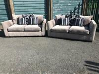 Silver sofas 2x2 great condition